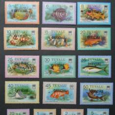 TUVALU-1979+1981-Trei serii complete de timbre nestampilate,tematica PESTI.