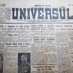 ziarul universul 10 mai 1945-anuntul  sfarsitului celui de-al 2 razboi mondial