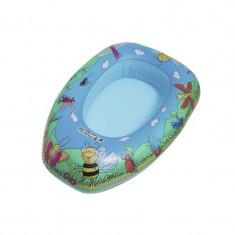 Barca gonflabila pentru copii Happy People, 80 x 22 x 54 cm, plastic, 1-5 ani, Multicolor