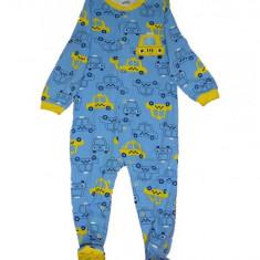 Salopeta / Pijama bebe cu taxi Z114, 12-18 luni, Albastru