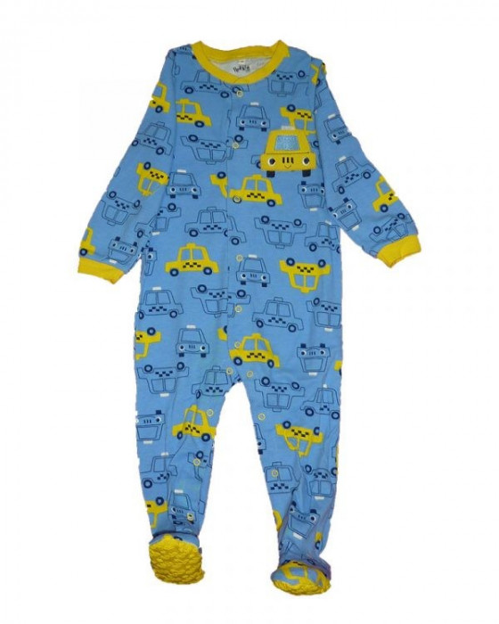 Salopeta / Pijama bebe cu taxi Z114