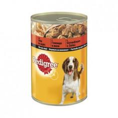 Hrana umeda pentru caini cu vita in aspic, Pedigree, 400 g