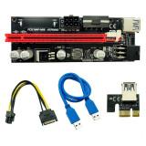 Riser Placa Video VER009S PCI-E 009S PCI Express PCIE 1X 16X 60CM USB 3.0 Mining