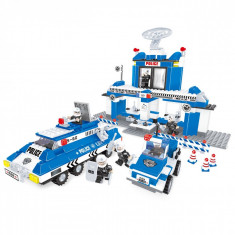 Set cuburi Lego, actual investing, model sediu politie, 567 piese