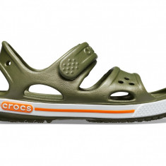Sandale Copii pe apă Crocs Crocband II Sandal Kids, 19.5, 20.5, 22.5 - 24.5, 30.5, 32.5, 33.5, Verde