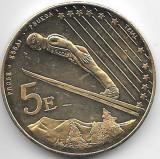 Moneda 5 euro 2003, proba, aUNC/UNC - Andorra, 35,6 mm, 22,99 g, Europa
