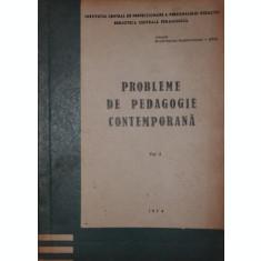 PROBLEME DE PEDAGOGIE CONTEMPORANA - BIBLIOTECA CENTRALA PEDAGOGICA