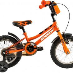 Bicicleta Copii Dhs 1401 Portocaliu Negru 14