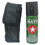 Spray Paralizant Iritant Lacrimogen Autoaparare, Spray Nato 60 ml, Husa