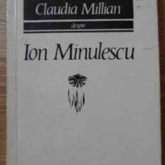 DESPRE ION MINULESCU - CLAUDIA MILLIAN