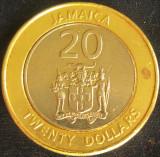 Moneda exotica - bimetal 20 DOLARI - JAMAICA, anul 2006 *cod 3774, America de Nord