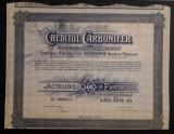 Actiune 1920 Creditul Carbonifer - titlu - actiuni