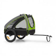 KLARFIT Husky, remorcă de biciclete pentru a transporta câini, cca 250 L, 600D, pânză Oxford, verde