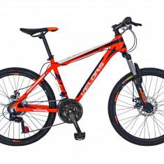 Bicicleta MTB HT 24 FIVE Lagoon cadru aluminiu culoare portocaliu alb