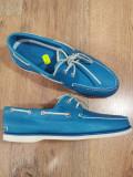LICHIDARE STOC ! Mocasini barbat TIMBERLAND originali noi piele turquoise 43 !