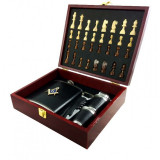 Cumpara ieftin Set Cadou Cu Simboluri Masonice Caseta Sah cu Plosca si Pahare MM651