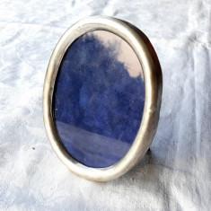 RAMA FOTO argint STERLING ovala ANGLIA rara MARE veche DE BIROU de colectie