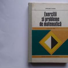 Grigore Gheba - Exercitii Si Probleme De Matematica Clasele VII - VIII 1979