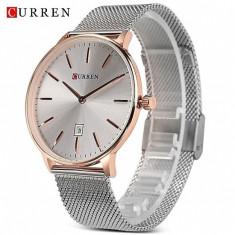 Ceas de mana barbati elegant - Curren - M8302SILVERGOLD