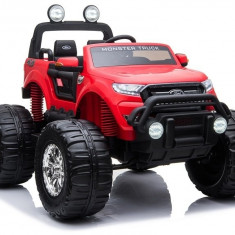 Masinuta electrica cu 2 locuri Ford Ranger 4x4 MonsterTruck, rosu