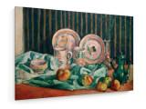 Tablou pe panza (canvas) - Emile Bernard - Still life with apples and Breton ceramics