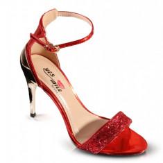 PDS69-3 Sandale elegante cu toc oglinda