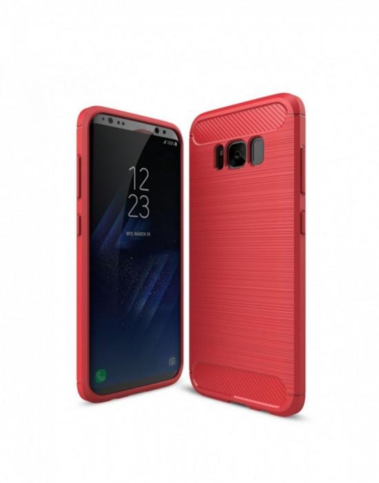 Carcasa protectie spate din gel TPU pentru Samsung Galaxy S8 G955 Rosu