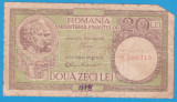 (2) BANCNOTA ROMANIA - 20 LEI ND, SEMNATURA LUCA SI OBICEC, PREZINTA RUPTURI
