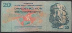 Bancnota 20 COROANE - RS CEHOSLOVACIA, anul 1970 *cod 925 foto