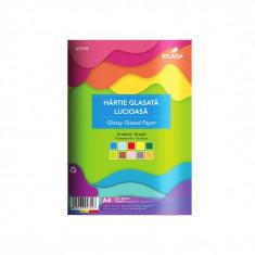 Hartie glasata lucioasa 10 culori/set Ecada 62910