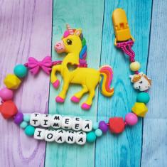 Lantisor pentru dentitie cu doua nume unicorn