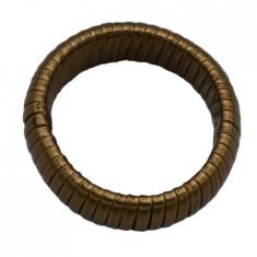 Bratara lata,model cu constructie elastica,nuanta de maro