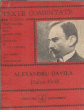 TExte comentate Alexandru Davila - Vlaicu Voda