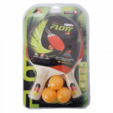 Set 2 palete tenis de masa pentru copii + 3 mingi Flott