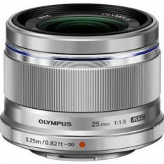 Obiectiv Olympus M.ZUIKO DIGITAL 25mm, f/1.8 (Argintiu)