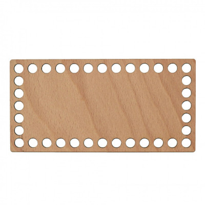 Baza din lemn pentru Crosetat - Dreptunghi - Fag - 20x10cm - 38o - 10mm foto