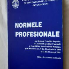 NORMELE PROFESIONALE CORPUL EXPERTILOR CONTABILI SI CONTABILILOR AUTORIZATI