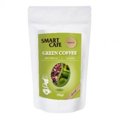 Cafea Verde Macinata Decofeinizata cu Hibiscus Bio 200gr