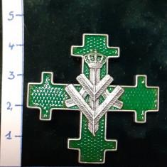 Insigna 7-ani BATALION 1 VANATORI DE MUNTE; reproductie Regalista
