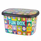 Cumpara ieftin Cutie depozitare pentru copii , 50 litri, FUN BOX, multicolor cu animalute