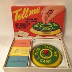 Joc vintage Tell me, The grand Quiz game, UK, England