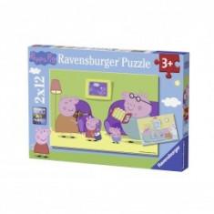 Puzzle purcelusa peppa 2x12 piese