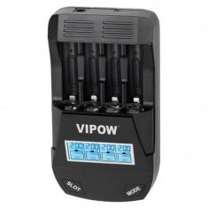 Incarcator Smart Charge Vipow, marimi AA/AAA Ni-MH, Ni-Cd