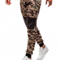 Pantaloni sportivi pentru bărbat camuflaj-maro Bolf 170