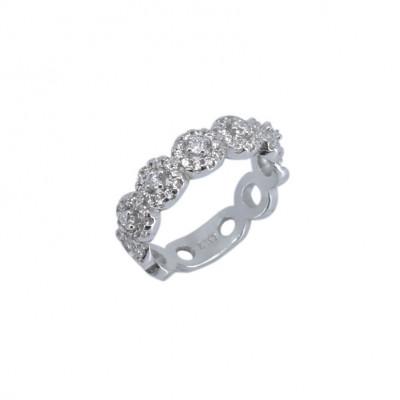 Inel Tip Verigheta Argint 925 Cu Cercuri Si Pietre Marimea 56