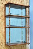 Etajera de perete cu oglinda - secol 19