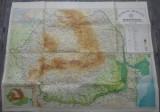 Harta fizico-administrativa a RSR// 1974