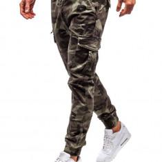 Pantaloni joggers cargo bărbat verzi Bolf 5398