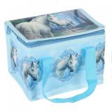 Geanta izoterma cu unicorni, design Lisa Parker - Calatoria Spre Casa