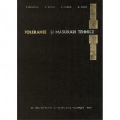 Tolerante si masurari tehnice